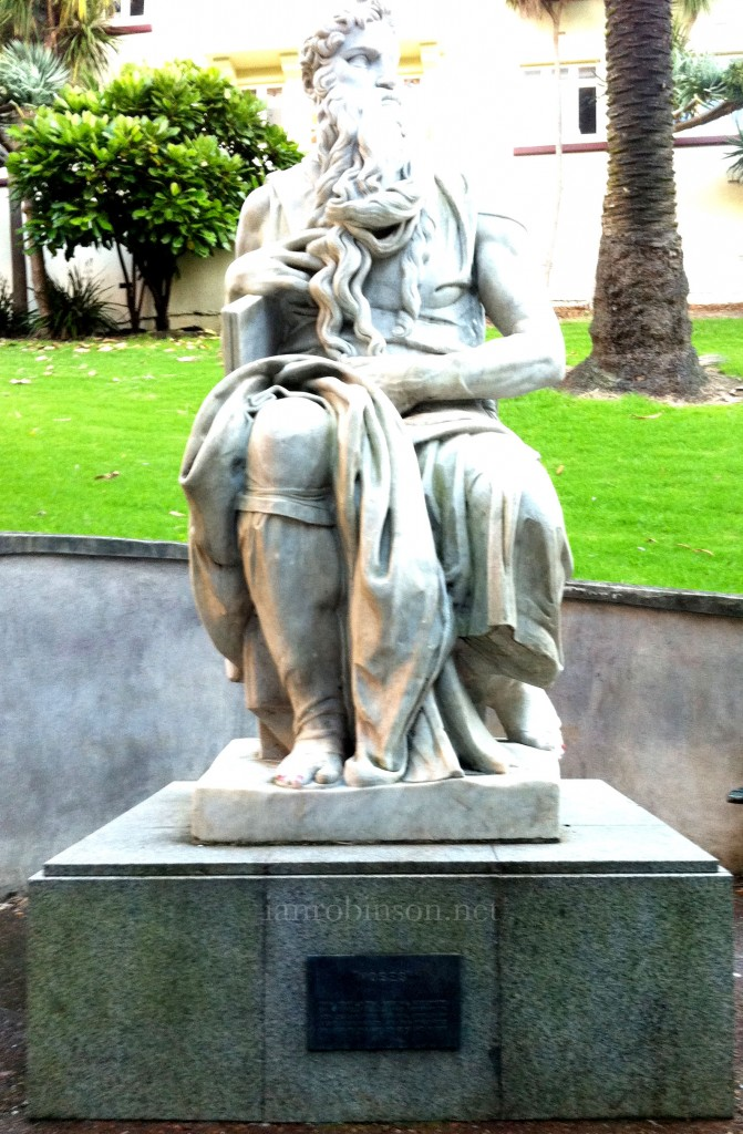 Myers Park Auckland Statue of Moses