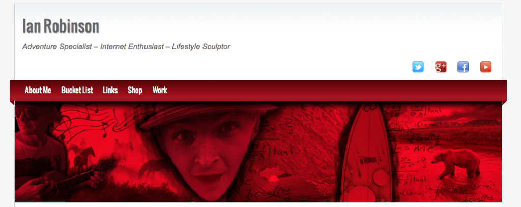 ian robinson dot new web site design 26-4-2012