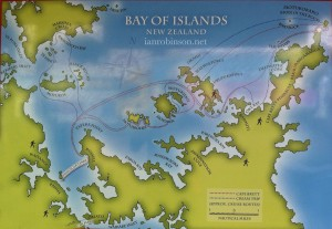Bay Of Islands Map - Ian Robinson
