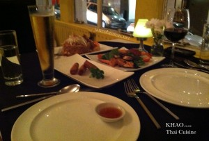 Fine Dinning at Khao O'onoconnel street in Auckland