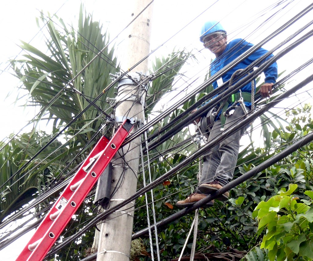 Utility Working Powerlines