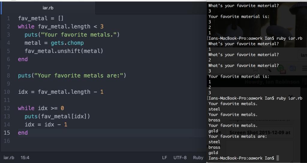 Learning arrays in Ruby