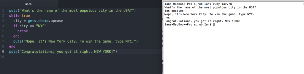 Most populous city in america_While loop practice