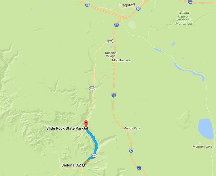 The beautiful stretch of road to Sedona, AZ