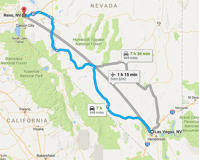 Reno to Vegas