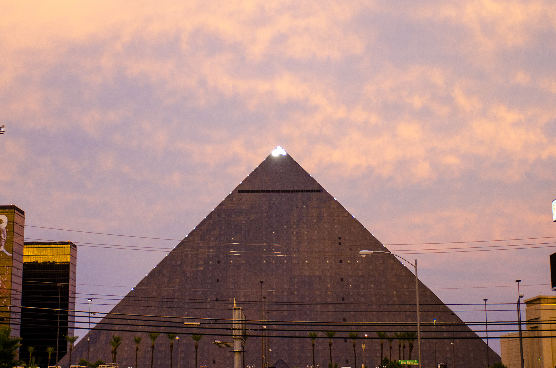 A casino and hotel in Las Vegas called The Luxor