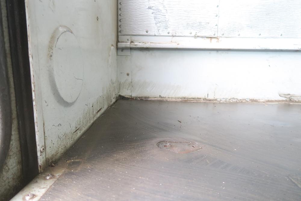 school bus tiny home conversion floor removal2
