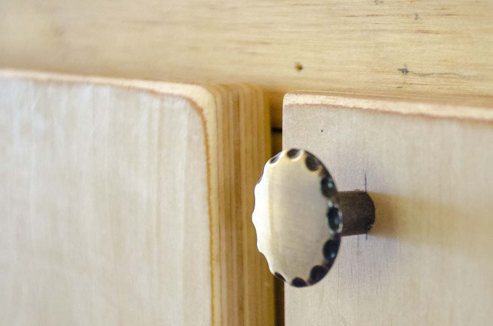 skoolie cabinetry countertop knob