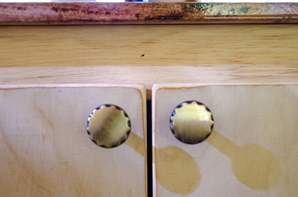 Cabinet Knobs on Skoolie
