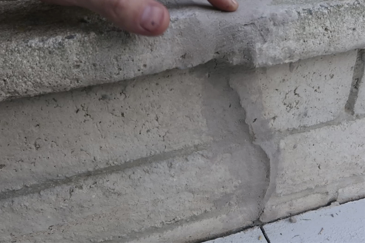 Brick Mortar Repair - The Repaired Wall