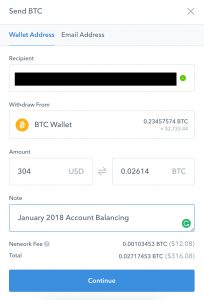 Transferring CoinBase BTC to Liqui BTC